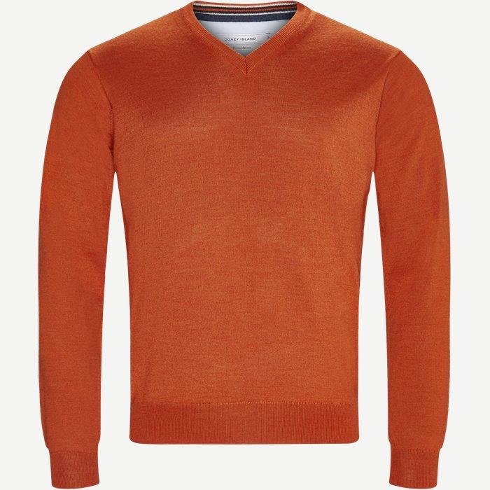 Perigia V-neck Strik - Strik - Regular - Orange